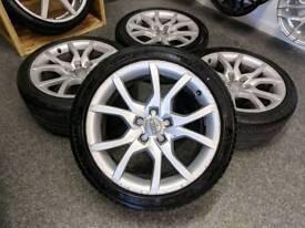 "18"" Genuine Audi A5 Speedline S line Alloy Wheels & Tyres 5x112"