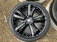 Jaguar XKR/XK/XFR Genuine Set Kalimnos Black Alloy Wheels And Dunlop Sport Tyre