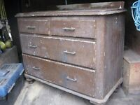 "old pine chest of draws 34"" high x 40"" on turned legs original condition £75 o.n.o."