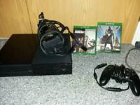 Xbox one console with 2 game
