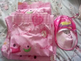 Bedtime with peppa curtains and lightshade