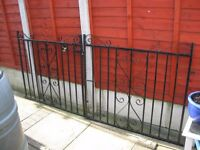 pair of wrought iron gates, good condition