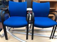 Blue Stackable Chair Set 4