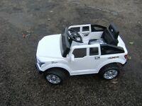 New 12V Ride-On Evo 4x4 White Remote Control Kids Car, 3-8 YRS