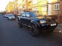Nissan Narava outlaw monster truck, dvd player, LED floodlights, elevated + large tyres