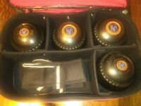 Henselite Championship Bowls Size 5H + Bowls carrier & Emsmorn Bag