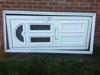 Aluminium front door with frame