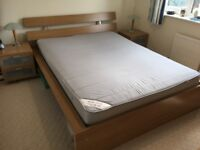 Ikea Malm King size bed, bedside units, double chest, individually or together