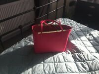Pink Leather Ted Baker bag and Purse