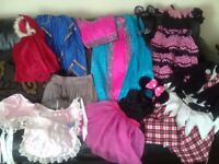 Dressing up bundle age 5-9 5 full outfits plus assortment of accessories pet and smoke free home