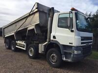 Daf cf 85 8x4 tipper 2004 lez compliant 1 owner aircon on springs