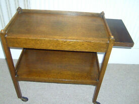 Brown Trolley with tray insert