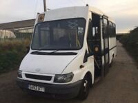 53REG FORD TRANSIT MINIBUS ONEOWNER WITH OVER £25000 WORTH OF SERVICE HISTORY BILLS REAR RAMP SUPERB