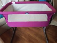 Chicco Next 2 me crib in Bright Pink