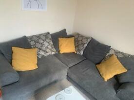 Grey Corner Sofa 5 seater RRP £650