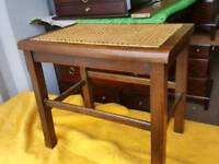 Oak and cane stool
