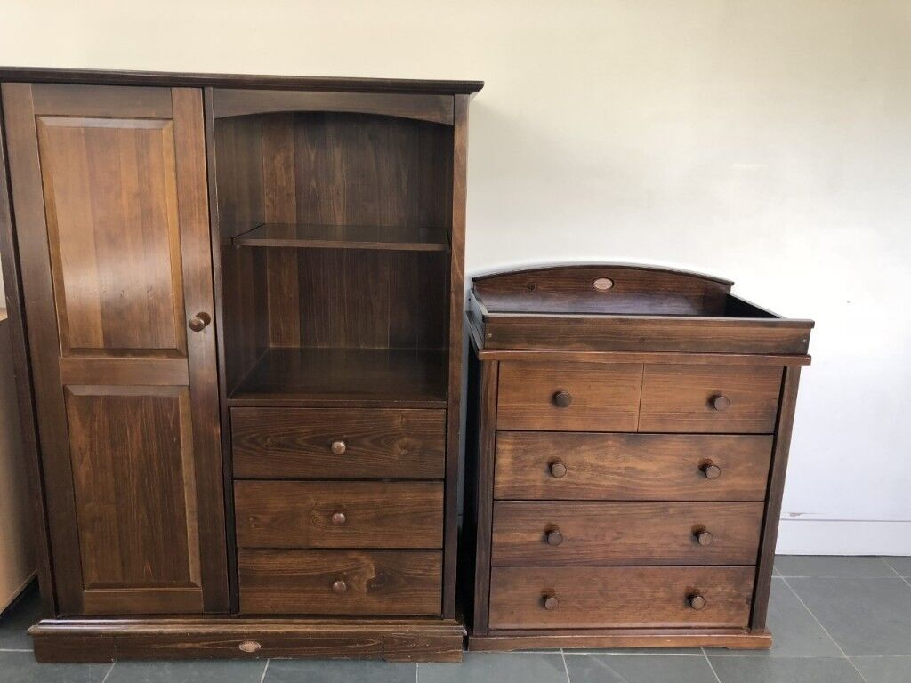 Boori Kids Wardrobe And 4 Draw Dresser With Change Table In English Oak Wimbledon London Gumtree