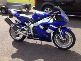 1999 Yamaha R1 Classic Superbike for sale completely original with only 17000 miles from new.