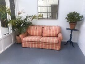 Duck feather filled bespoke hand made sofa in coral pattern 2 seater - FREE