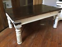 Solid Wood Sheesham Rustic Coffee Table / Can Deliver