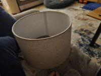 Grey chevron floor lamp or ceiling light shade