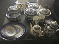 Blue China tea service for sale