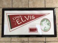ELVIS PRESLEY 1956 RARE COTTON BOWL PENNANT (framed)