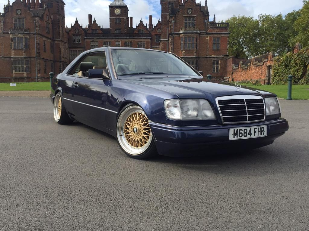 Mercedes w124 coupe ce 220 stanced classic amg replica for Mercedes benz w124 amg