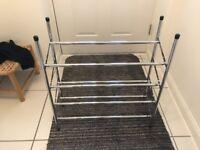 4 Tier extendable metal shoe rack