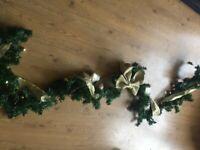 Christmas garland for fireplace