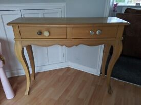 Art Deco Style China Cabinet With Bureau And Drawers Leaded