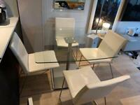 BOCONCEPT 4 leather dining chairs and table £350