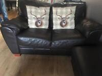 Free sofa brown 3 and 2 seater
