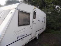 4 BIRTH CARAVAN FIXED BED WITH AWNING AND LOADS OF EXTRAS