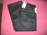 """Brand New With Tags G-Star Raw New Radar Slim Fit Button Fly Jeans Size: W28"""" L32"""""""