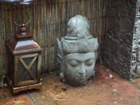 Life size Concrete Buddha Head – Garden Ornament