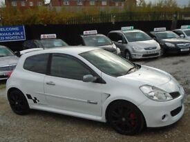 reanult clio sport, 2.0 petrol, metallic white, 3 door