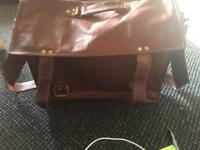 Vintage Style 100% Leather Large Satchel/Business Case