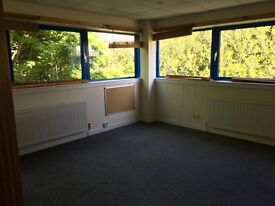 Upper floor light- filled office space near Newbridge and airport with 4 rooms (1400 sq ft)