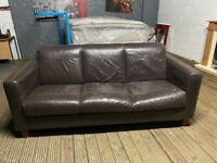 REAL LEATHER 3 SEAT SOFA VERY COMFY NICE CAN DELIVER LOCAL