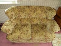 Two-seater settee and armchair