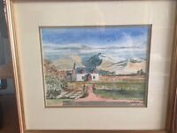 Original Signed Watercolour of Banavie Cottage, near Fort William. By Robert W Cleland