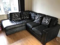 Faux leather corner suite