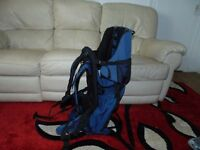 baby carrier backpack blue and black