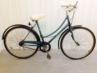 A vintage raleigh City bike Three speed Hub Gears