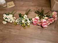 Wedding decorations - Artificial flowers, just married bunting, variety of candles, card chest!