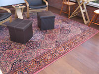 Multi Coloured Persian Style Rug 100% Wool