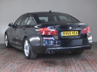 BMW 5 SERIES 520d [190] M Sport [Sat Nav] 4dr Step Auto (black) 2015