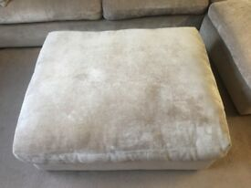 Large cushioned footstool for sale