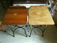 Lovely vintage bedside tables with iron bases
